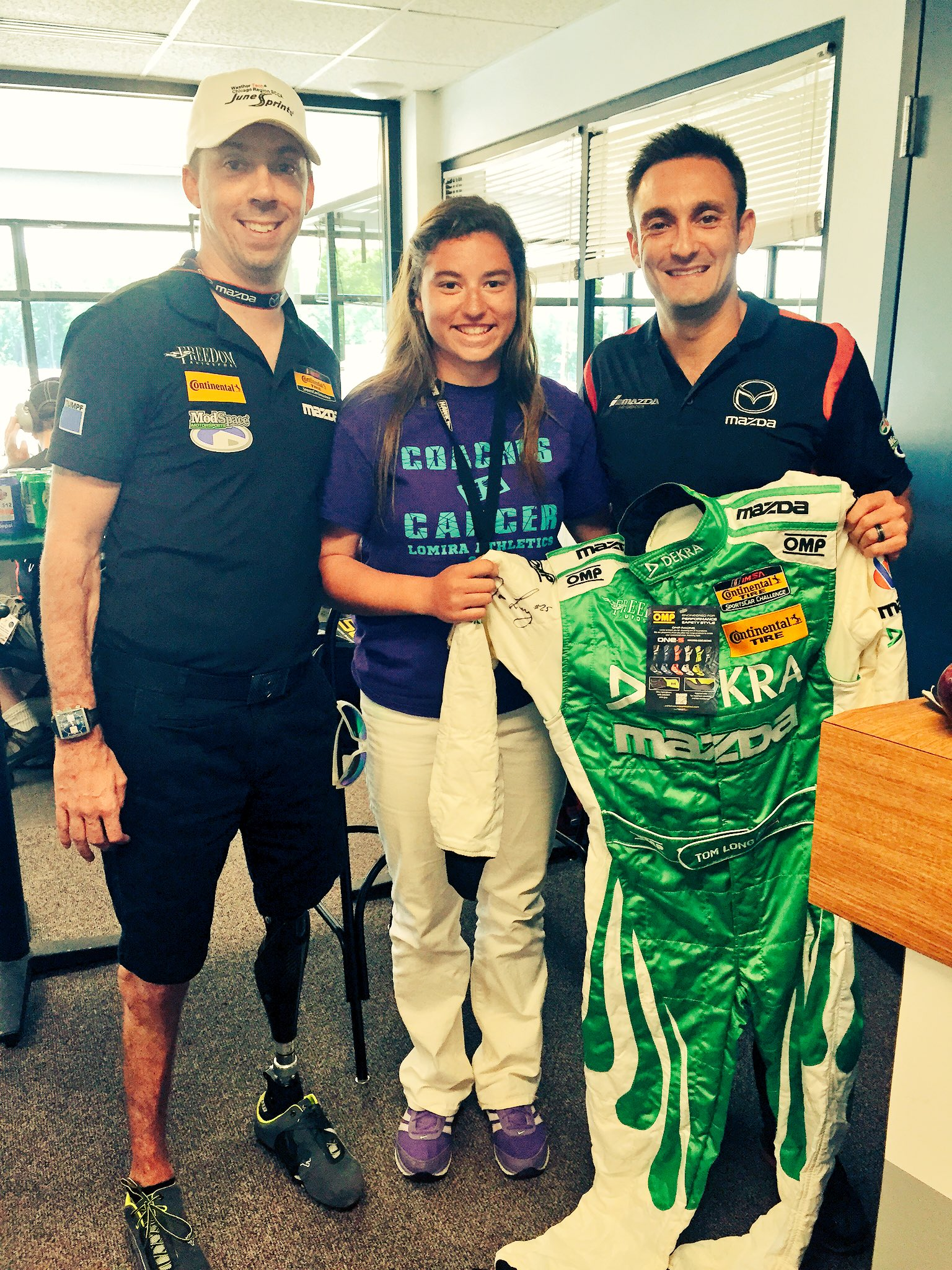 Liam Dwyer was on hand for the Chicago SCCA corner workers raffle.