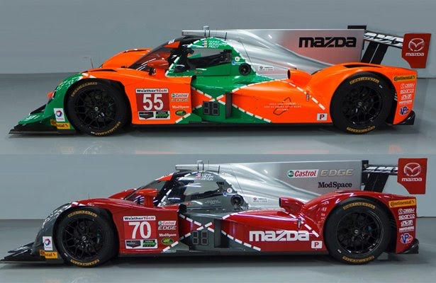 Our Mazda Motorsports prototypes will have a new look to celebrate the 25th anniversary of Mazda's 24 Hours of LeMans win.