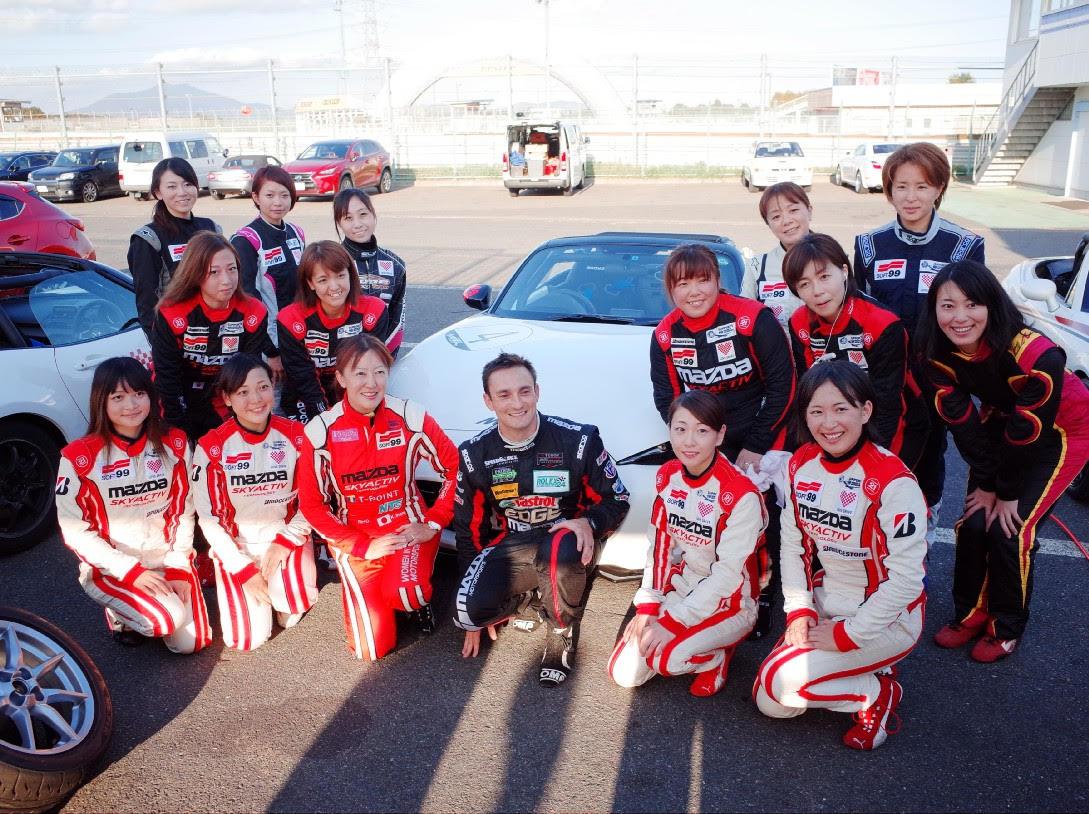Keiko's Women in Motorsport team.