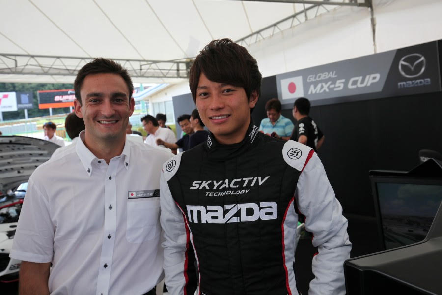With Tsutsumi-san, one of the young drivers that will be competing at the Global Invitational at MRLS next month!