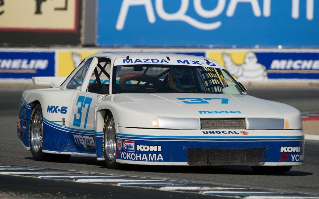 Driving the Mazda MX-6 GTU at the Monterey Historics
