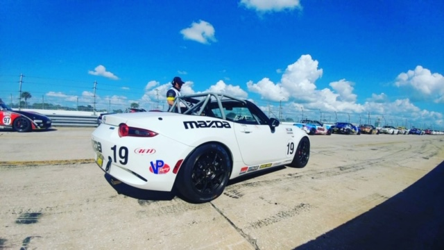 We continued testing and development of the 2019 Global MX-5 package at Sebring.