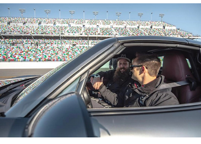 Media members really enjoyed their hot lap around Daytona.