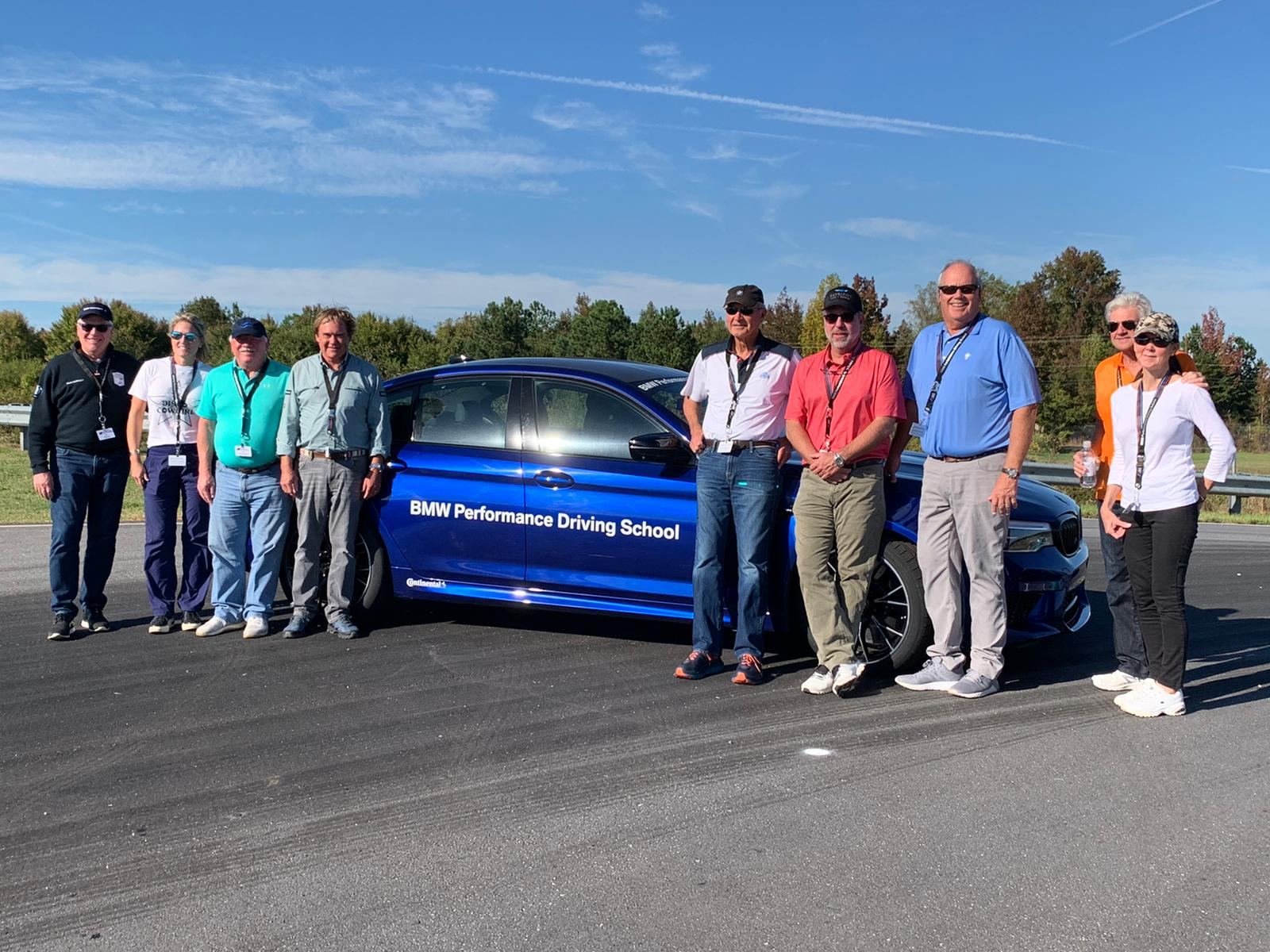 A fun group of drivers from a variety of driving backgrounds.