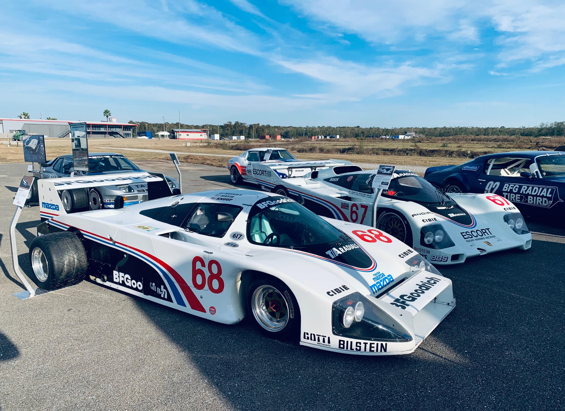 BFGoodrich had their historic lineup of radial tires on the race cars they've supported over the years.