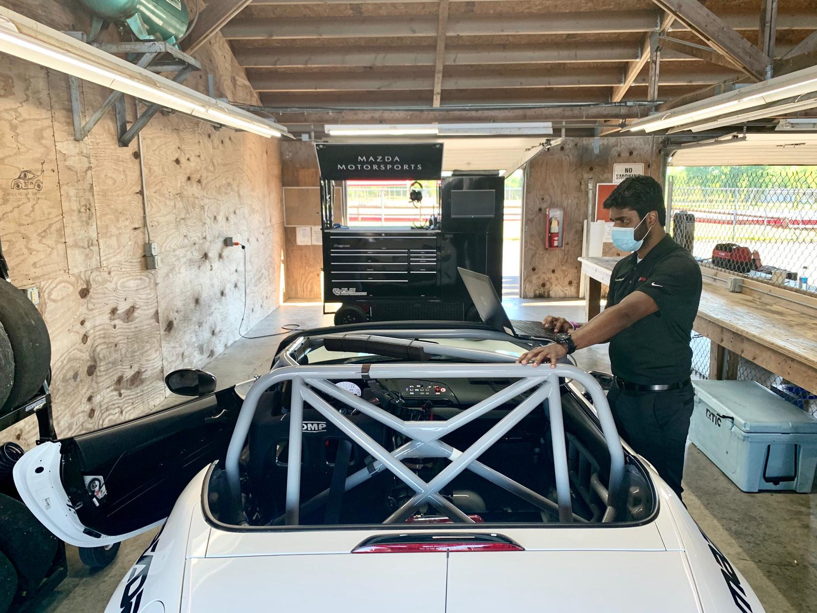 The test included lots of fine-tuning with the electronics engineers from series partners Bosch Motorsports.