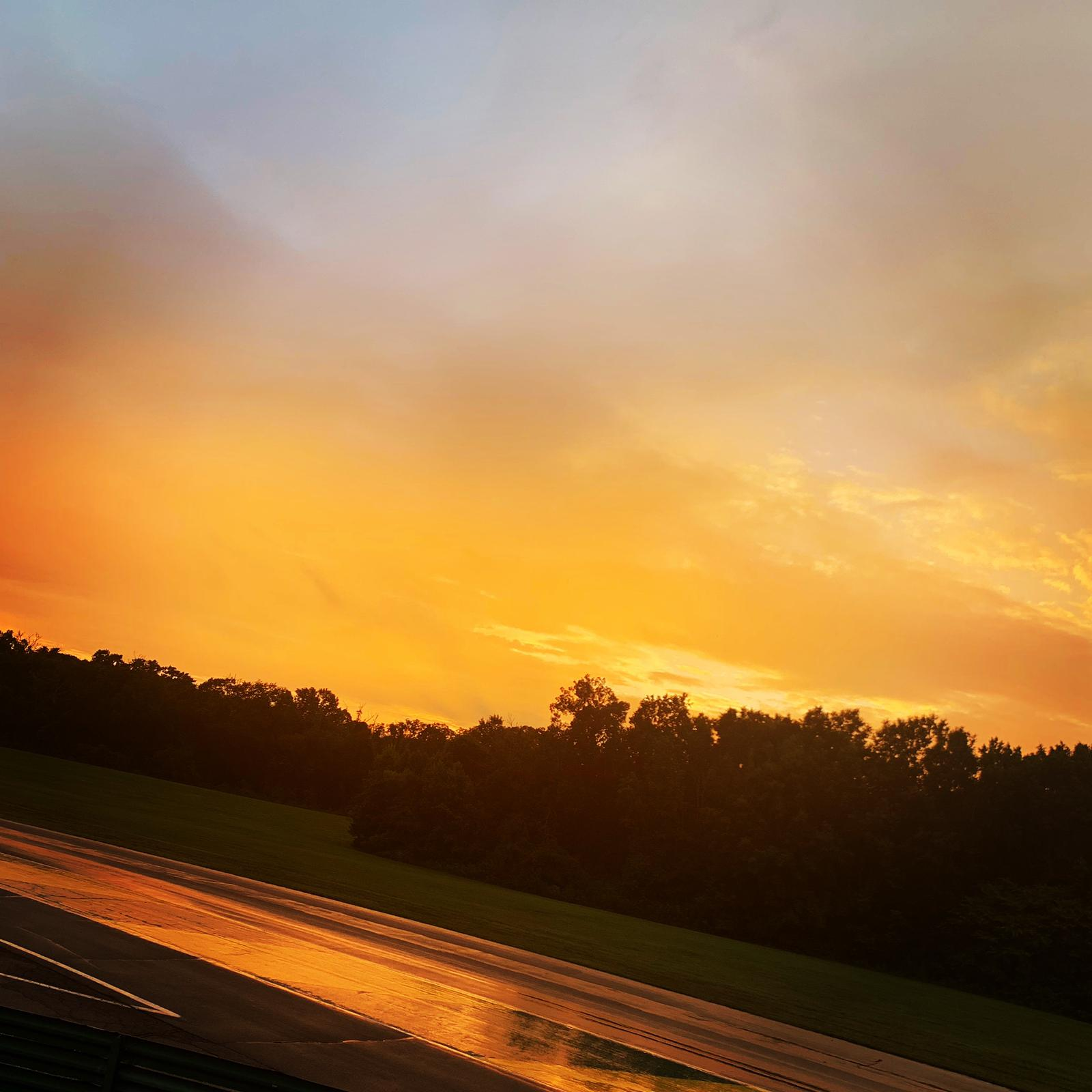 We had beautiful weather at VIR, albeit HOT all week, with the occasional evening shower.