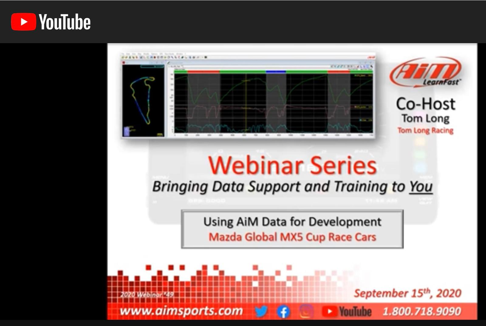Speaking of data, I participated in an informative AiM Sports webinar this past week, discussing the power of data systems and how to use them as a tool. You can watch it on YouTube at this link.