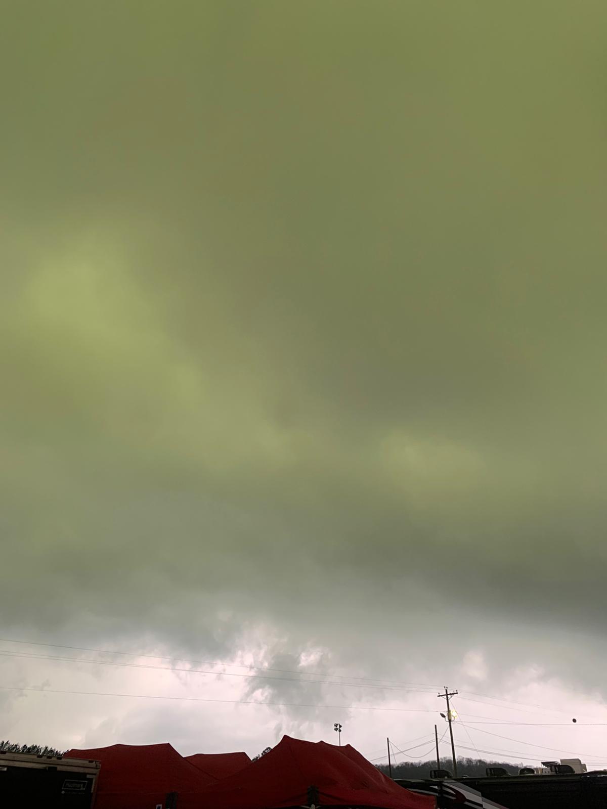 Green sky!