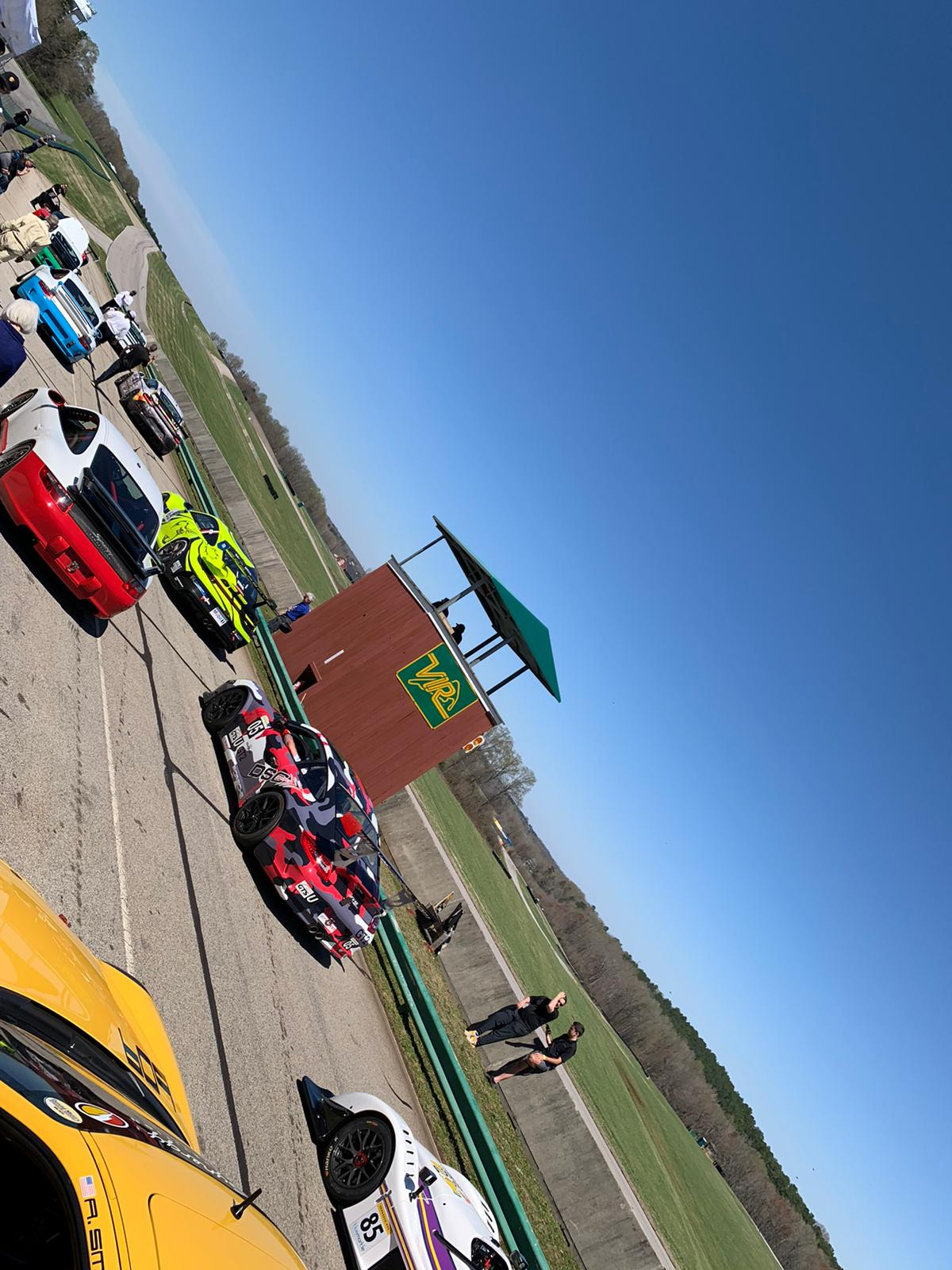 That's more like it! We had blue sky and beautiful cars at VIR!