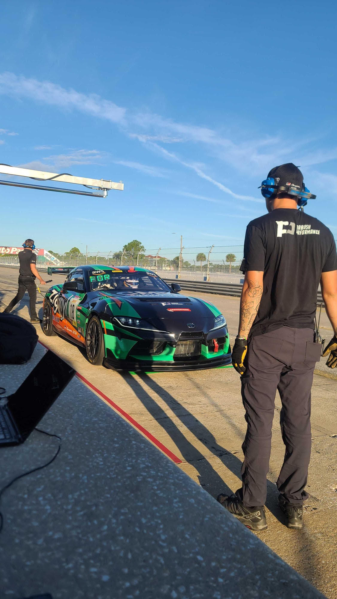 It was a productive day of testing leading into the event, which started the team off on the right foot.